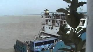 Dhaka To Barisal: Crossing River by Keramat Ali Ferry.