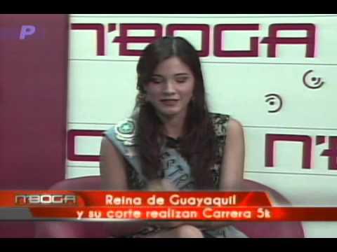 Reina de Guayaquil y su corte realizan carrera 5k