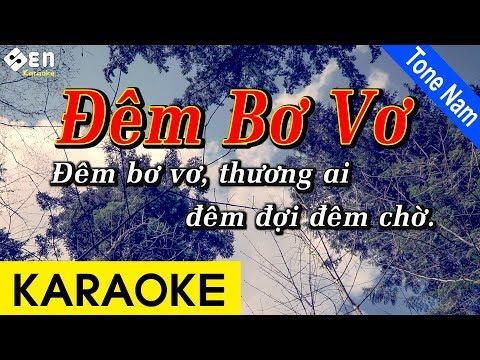 Đêm Bơ Vơ - Karaoke Beat Chuẩn   Tone Nam