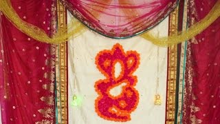 DIY Flower Ganesh Wall Decor - ReadyForDIY