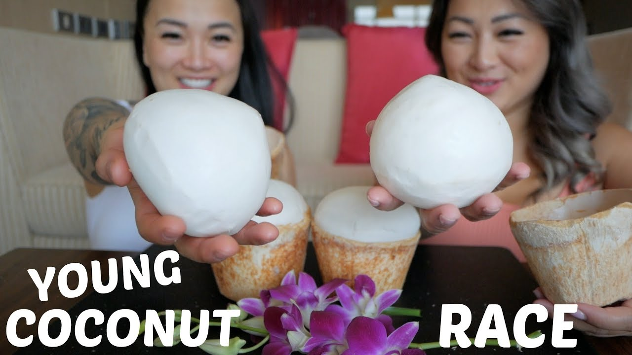 Young Coconut Race CHALLENGE | Mukbang | N.E Let's Eat & SAS ASMR