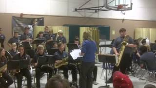 Arden Middle School Jazz Band -Opus De Funk- Winter 2012 Concert