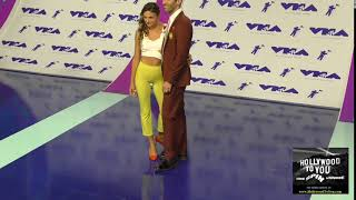 Nev Schulman and Laura Schulman at the 2017 MTV Video Music Awards at The Forum in Los Angeles