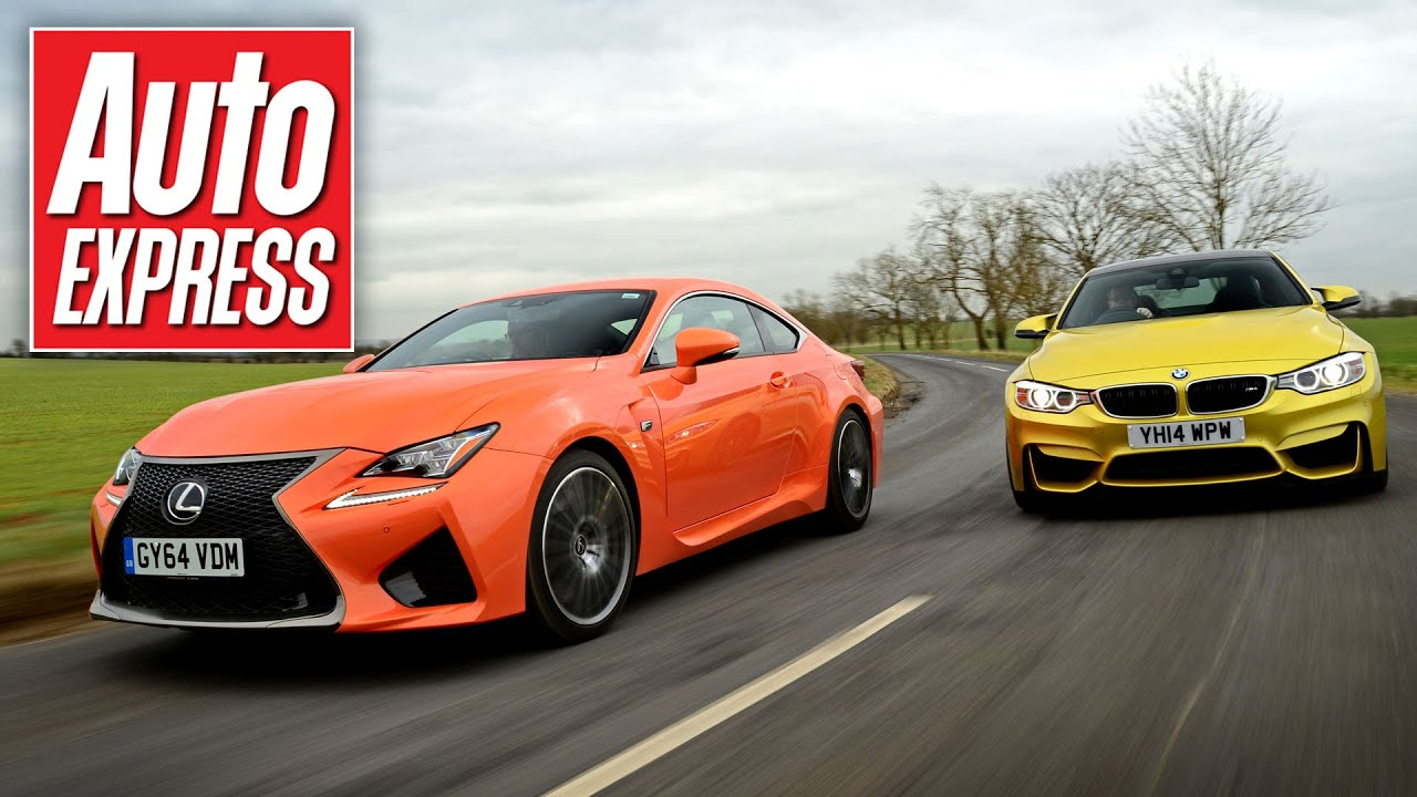 Lexus RC F vs BMW M4 super-coupe track battle - YouTube