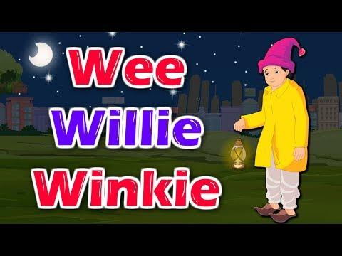 Wee Willie Winkle | English Nursery Rhyme With Lyrics | English Song | Kidda Junction