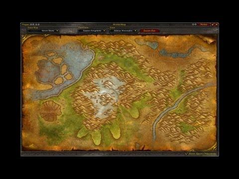 Eastern Kingdoms Original Map - World Of Warcraft Music