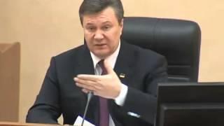 Янукович кричит на губернатора Матвийчука