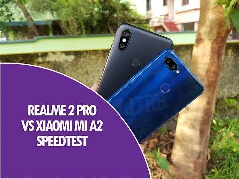 Realme 2 Pro vs Xiaomi Mi A2 Speedtest Comparison