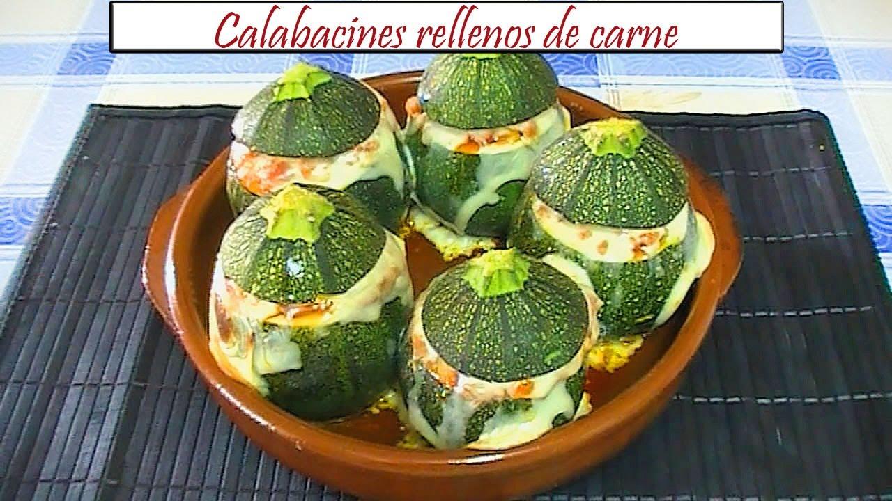 Calabacines Rellenos De Carne Receta De Cocina En Familia Youtube