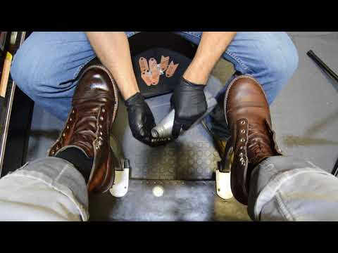 MOTOR OIL FOR YOUR BOOTS?! | ANGELO SHOE SHINE ASMR