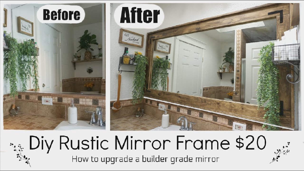 Rustic Mirror Frame Farmhouse Diy Decor Momma From Scratch Youtube