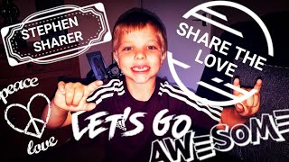 6 year old sings - Stephen Sharer - Share The Love