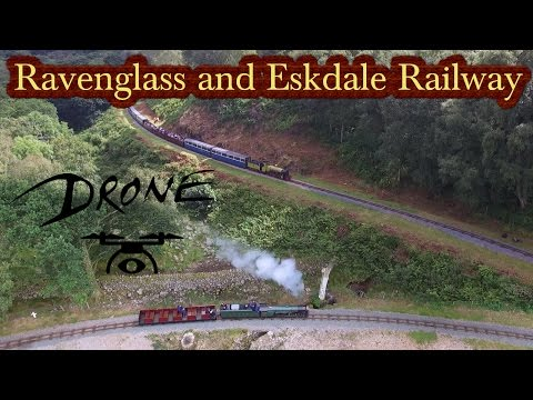 Ravenglass and Eskdale Railway 2016 Featuring Typhoon from RH&DR (DRONE)