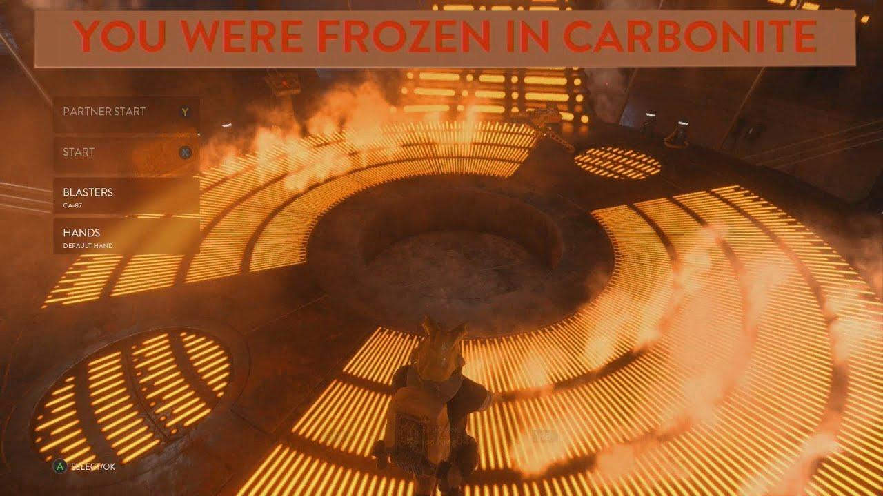Star Wars Battlefront Bespin DLC Frozen Carbonite Easter Egg