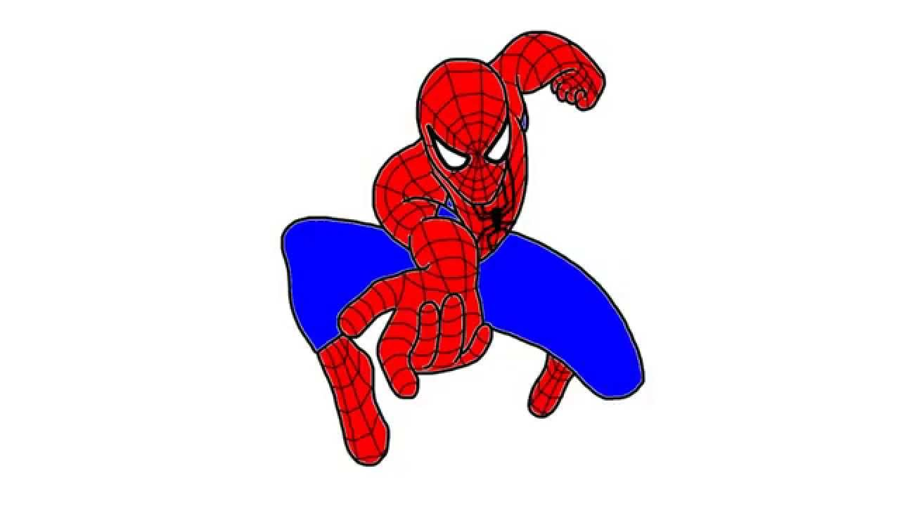 how to draw 3d spiderman