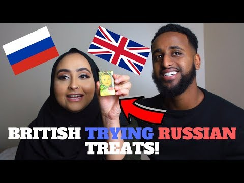 BRITISH TRYING RUSSIAN CANDY!!!