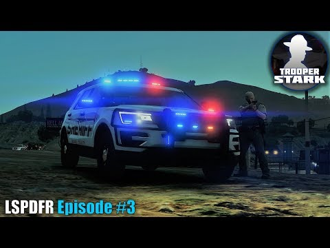 GTA 5 LSPDFR | Ep #3 | Sandy Shores Robbery | Officer Down!