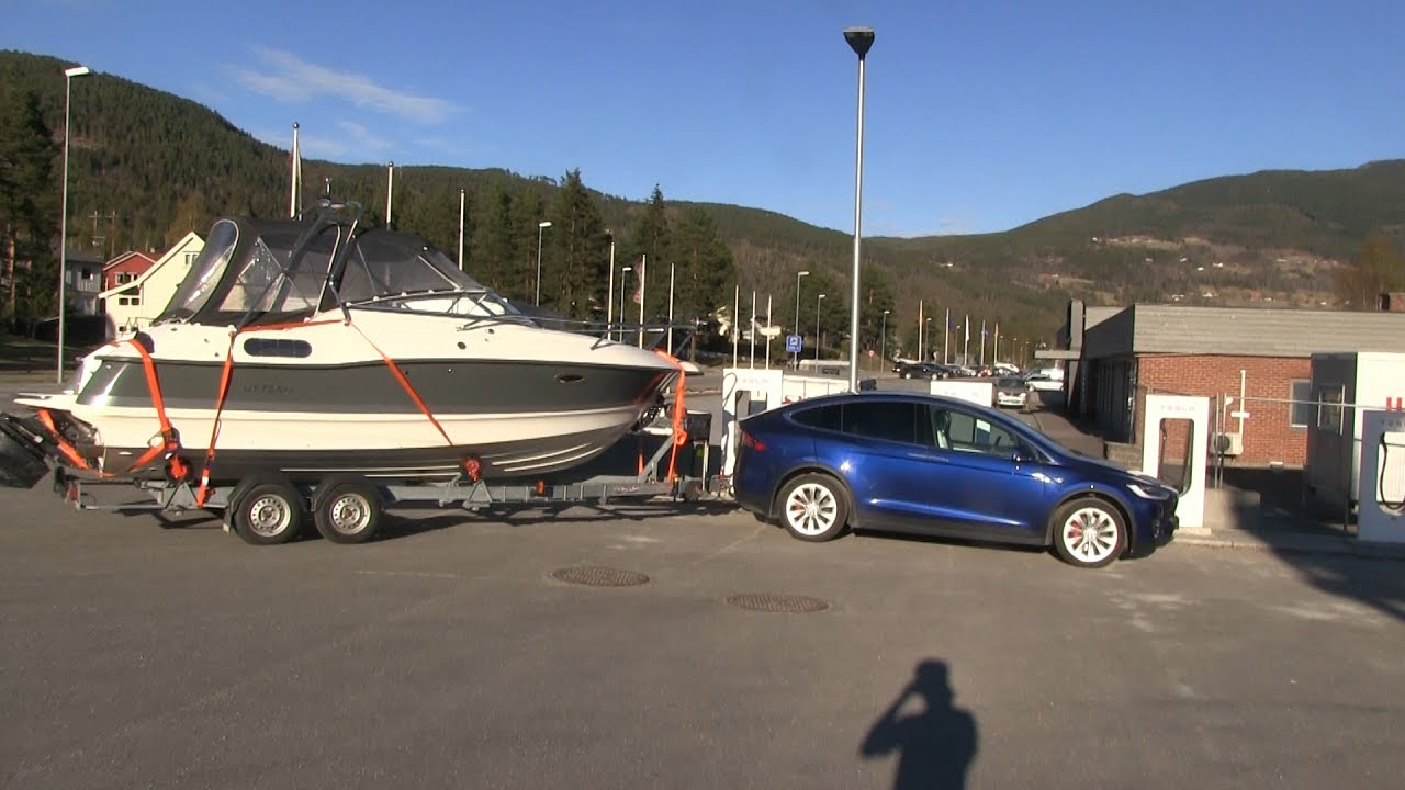 Model X Towing A Boat
