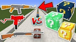 SİLAHLI ŞANS BLOKLARI PARKUR CHALLENGE - Minecraft