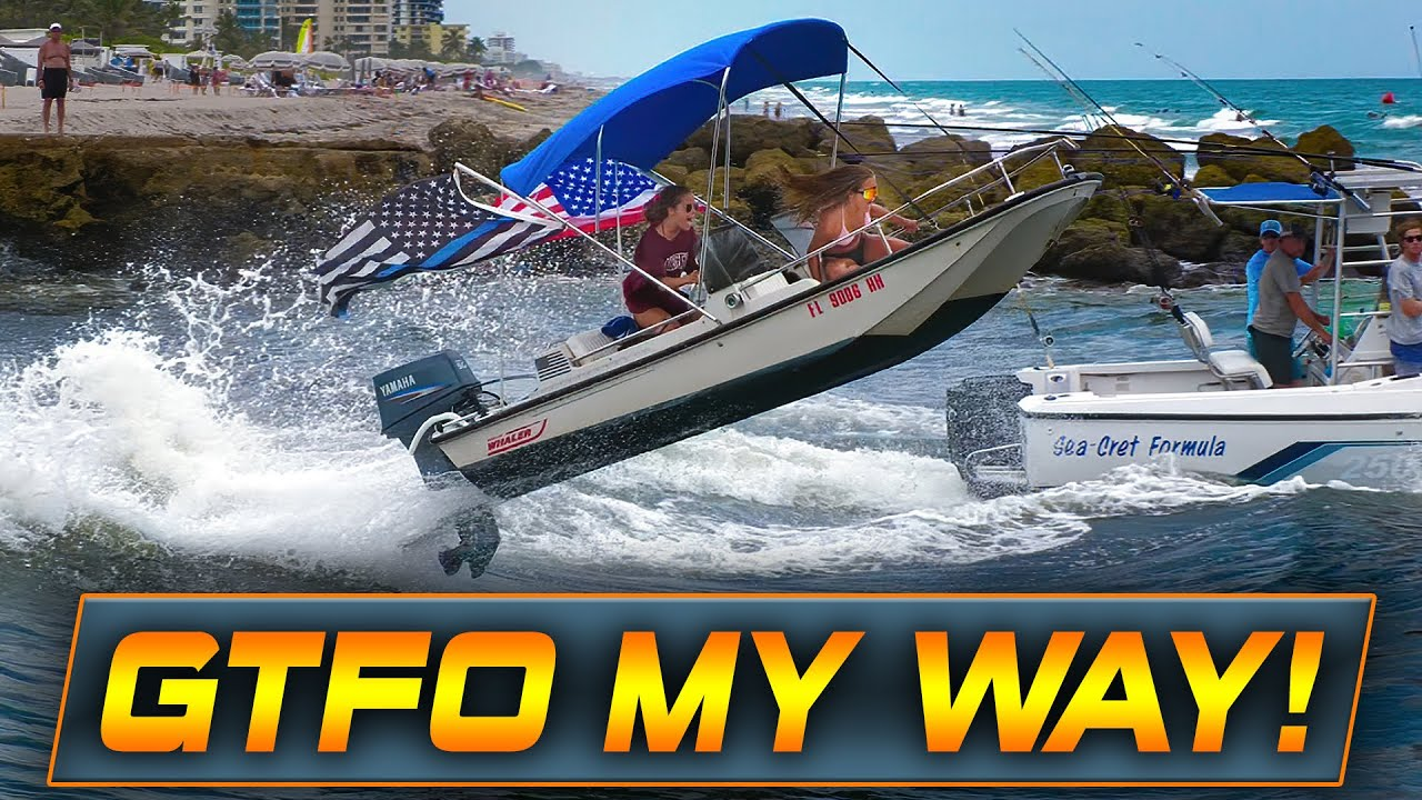 BIRTH OF A NEW LEGEND AT BOCA INLET ? WOW!   HAULOVER INLET BOATS   WAVY BOATS