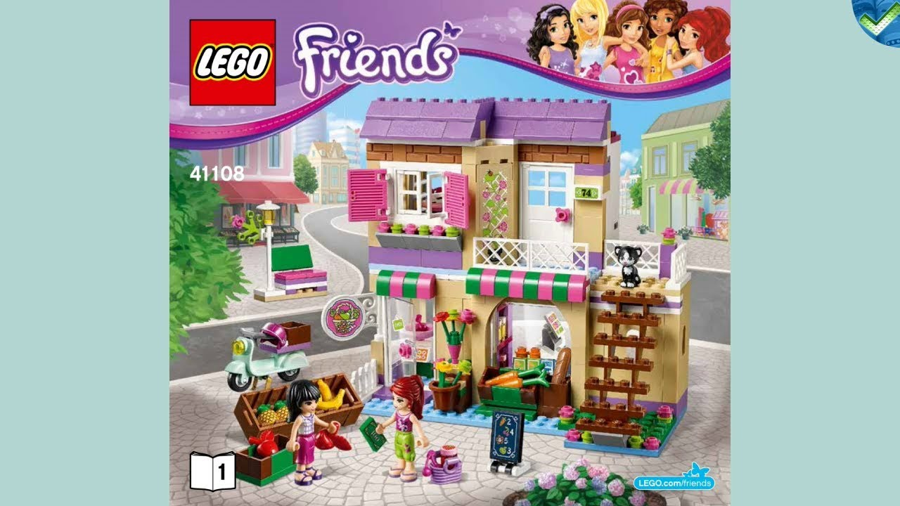 Download 41108 Heartlake Food Market LEGO® Friends Manual at the Brickmanuals Instruction Archive