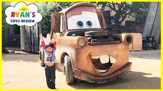 GIANT TOW MATER Life Size DISNEY CARS Family Fun Art's of Animation Hotel Tour Playground for Kids