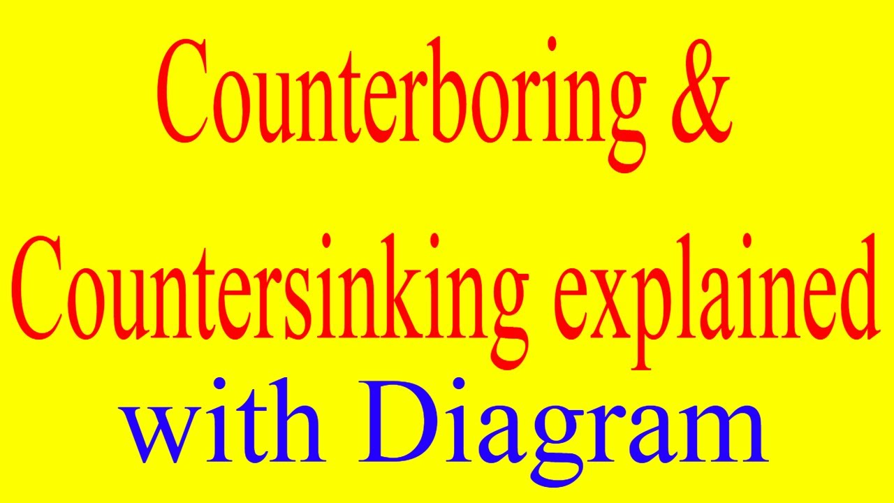 counterboring and countersinking explained with diagram | counterboring vs  countersinking explained