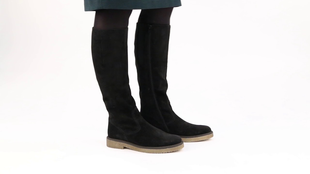 fantastic savings hot product recognized brands Gabor Nadine Black Suede Womens Long Riding Boots - YouTube