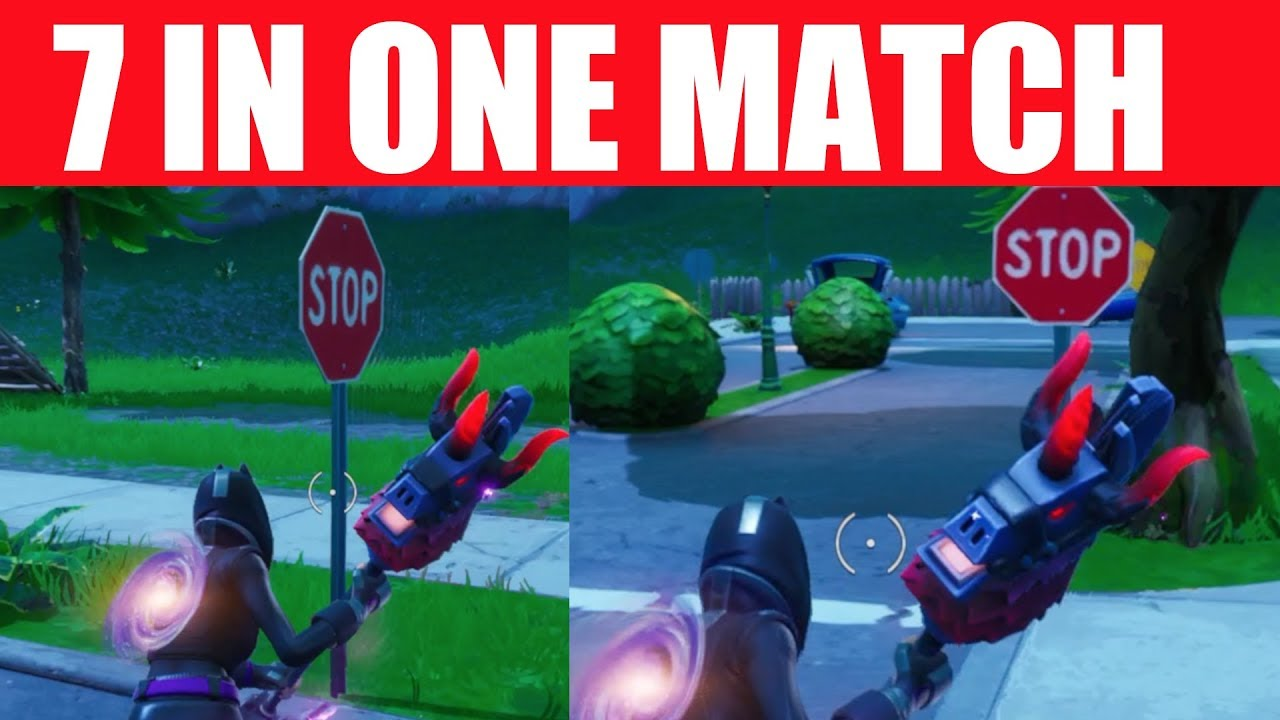 Destroy Stop Signs With the Catalyst outfit in a Single Match - 7 Stop Sign Locations in Fortnite #1