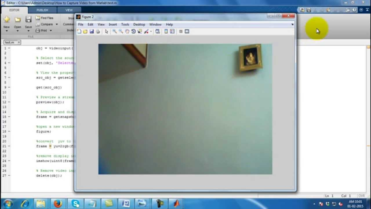 How to Capture Video from Camera using Matlab