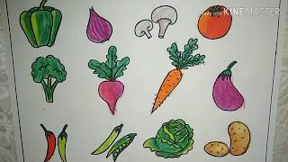 vegetables draw easy