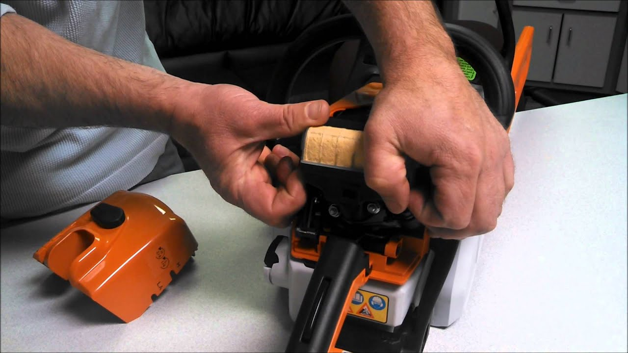 Stihl Ms250 Chainsaw Parts Diagram Story Elements Plot How To Remove The Air Cover And Filter Off Of A - Youtube