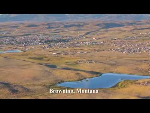 Oil and Gas on Blackfeet Tribal Lands - Browning, Montana - by EcoFlight