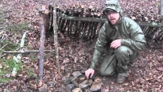 Survival Shelter Debris Hut Variations Part 1