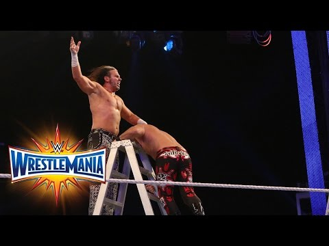 Thumbnail: Fatal 4-Way Raw Tag Team Title Ladder Match: WrestleMania 33 (WWE Network)