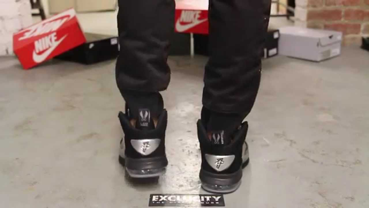 new arrival 5b1d3 c9aff Nike Air Penny VI Metallic Silver - Black On feet Video at Exclucity -  YouTube