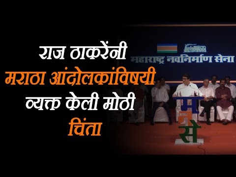 Raj Thackeray Expressed Great Concern About The Maratha Morcha Protesters