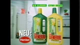 Historische TV-Werbung für Reinigungsmittel Der General 1989