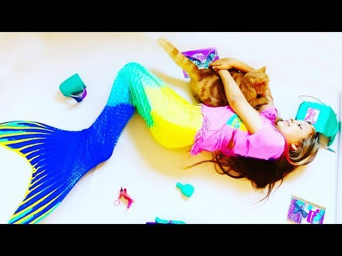 got-a-real-mermaid-tail?-new-mermaid-dolls!-how-to-become-a-mermaid!-video-for-children.-compilation