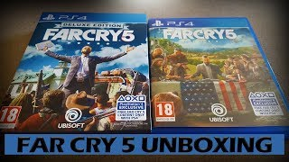 Far Cry 5 Deluxe Edition PS4 Unboxing