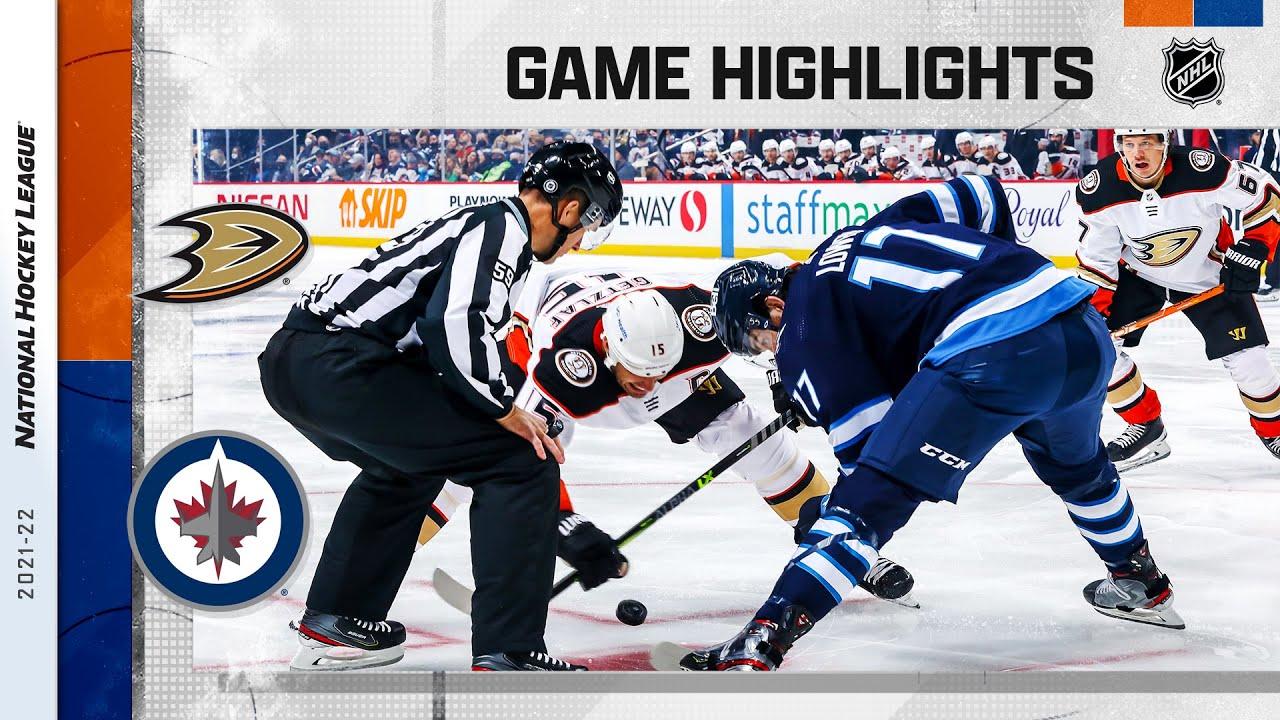 Download Ducks @ Jets 10/21/21   NHL Highlights