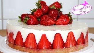 Erdbeertorte mit Joghurtcreme | Sommertorte | leicht und frisch | strawberrycake