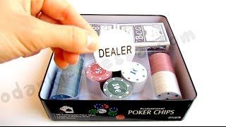 Набор для игры в покер 100 фишек (Видео обзор) podarki-odessa.com