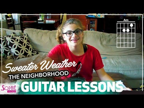 Sweater Weather  The Neighborhood  Easy Guitar Songs for Beginners & Chords  Sophie Pecora