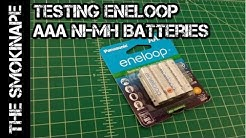 Eneloop AAA Ni-MH Rechargeable  Batteries 4th Generation Capacity Test - TheSmokinApe