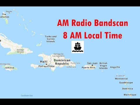 AM Radio broadcast band scan - Caribbean