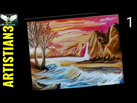 How to Draw Dramatic Mountain scenery Landscape Drawing – pastel drawing