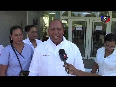 VIDEO│Montecristi: Enfermeras paralizan labores en reclamo de reivindicaciones al gobierno.