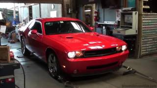 supercharged 2010 Dodge Challenger dyno run