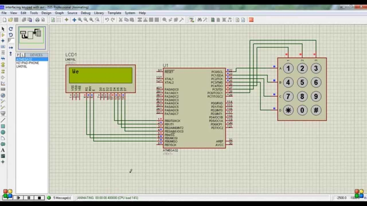 Interfacing Numeric Keypad with AVR (ATmega32)  YouTube